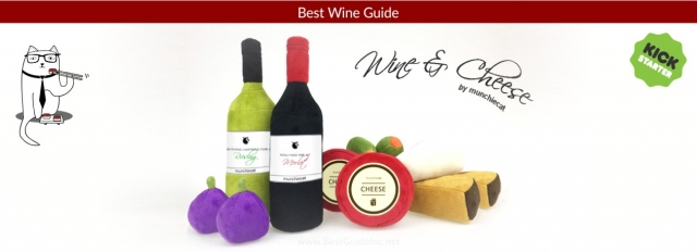 Toys for cats of wine lovers
